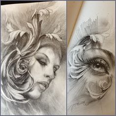 Some filigree sketches I did on the flight. Any takers on the girl? Email carlostorresart@gmail #airplanesketchin #carlostorresart
