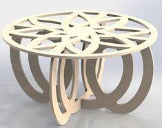 Mitte Tisch Design Vektoren DXF Dateien CNC-Fräse und Laser schneiden Möbel 053