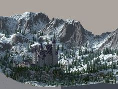 Castle Neuschwanstein in Minecraft | Scale 1:1 Project (not finished) [CINEMATIC] Minecraft Project