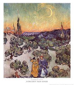 The Promenade, Evening by Vincent Van Gogh art print