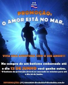 LOVE IS IN THE WATER! ! !  .. A Dive Bahia preparou uma super promoção para os casais apaixonados! .. .. .. Presenteie seu amor com um batismo embarcado e ganhe o seu ! Compre um e leve dois!!! A programação é válida até o dia 12 de junho e o passeio deve ser marcado para até o dia 30! .. .. Venha fazer um passeio romântico pelas águas cristalinas da Baía de Todos os Santos    .. .. >>MAIS INFORMAÇÕES << . ligue já e faça sua reserva: 55 71 3264-3820 .  #natures #discovery #coralreef…