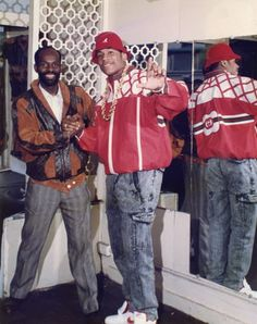 Dapper Dan and LL Cool J in a customized jacket.  (Courtesy of Complex)