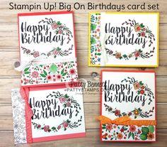 Big on Birthdays Stampin' UP! Card Set