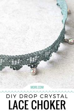 This tutorial will show you how to make a one-of-a-kind necklace with crystal charms and lace.