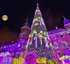 Christmas Display in Warsaw, Poland