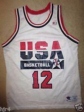 f00d5718d John Stockton  12 USA Olympics Dream Team NBA Champion Jersey 44 100%  Authentic