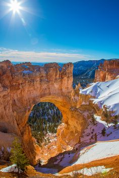 Natural Bridge, Bryce Canyon National Park, Utah – Amazing Pictures - Amazing Travel Pictures with Maps for All Around the World Places To Travel, Places To See, Parque Natural, Grand Parc, Best Honeymoon Destinations, Natural Bridge, Bryce Canyon, Canyon Utah, Photos Voyages