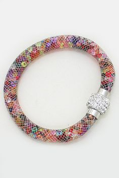 Crystal Filled Bracelet in Watercolor | Women's Clothes, Casual Dresses, Fashion Earrings & Accessories | Emma Stine Limited