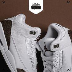 on sale 34e8e 6813b RELEASE☕🖤De witte lederen Air Jordan 3 Retro  Dark Mocha  is weer