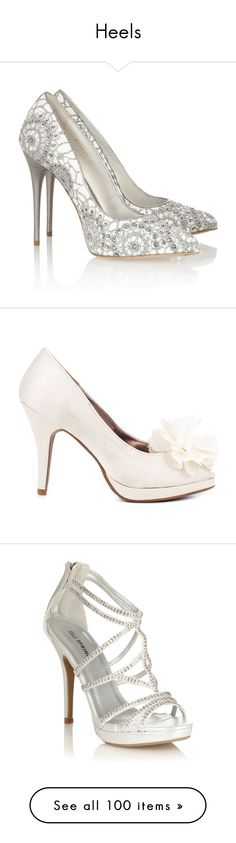 """Heels"" by conquistadorofsorts ❤ liked on Polyvore featuring shoes, pumps, heels, alexander mcqueen, white, white shoes, pointed toe high heel pumps, suede pumps, white high heel shoes and high heel shoes"