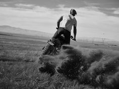 Triumph by Dean Bradshaw Enduro Motorcycle, Motorcycle Suit, Triumph Scrambler, Dust Storm, Motorcycle Photography, Poses For Photos, Bike Style, Ride Or Die, Motocross