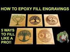 Epoxy Resin Tutorial – How to Fill wood engravings like a pro 5 different ways to DIY – Paint and Stain Techniques – New Epoxy Diy Resin Tray, Diy Resin Crafts, Epoxy Resin Wood, Resin Art, Diy Epoxy, 3d Laser Printer, Gravure Laser, Stain Techniques, Laser Cutter Ideas