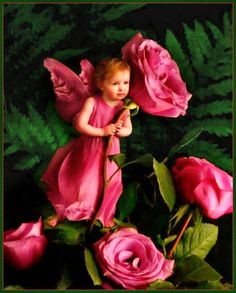 ❀ Flower Maiden Fantasy ❀ beautiful art fashion photography of women and flowers - Rose fairy