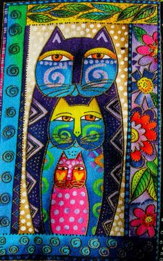 Laurel Burch Cat Quilt Square                                                                                                                                                                                 More