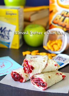 Almond Butter & Jam Wrap - is a great alternative to the classic peanut butter & jelly sandwich. on kleinworthco.com #ad