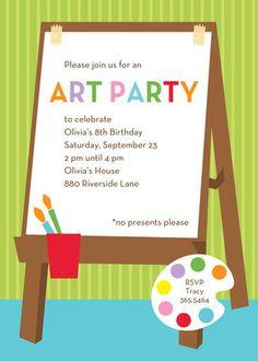 For Art's Sake Invitations