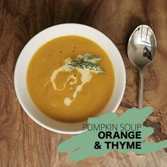 Pumpkin soup with orange and thyme