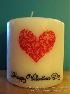 Valentine Candle, Valentine's & Romantic Crafts