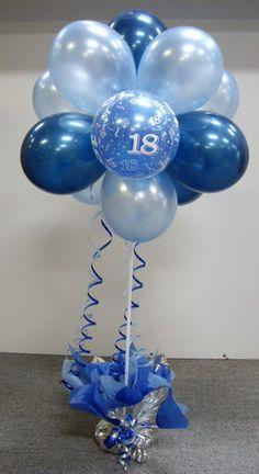 Pictures of Balloon Topiaries | Balloon Power :: Age Birthday - 1, 16, 18, 21, 30, 40, 50, 60, 70, 80 ...