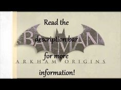 http://www.youtube.com/watch?v=_KT3bFZH3gA - Batman Arkham Origins Free Download Only working Batman Arkham Origins Free Download that works! https://www.facebook.com/bestfiver/posts/1428526987360272