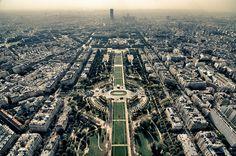 Champs de Mars as seen from the Eiffel Tower -- Paris, France.