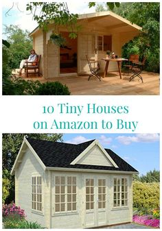 Many people consider a tiny house big living. Tiny houses have smaller sized everything. They have smaller appliances, smaller living. Guest Cottage Plans, Guest House Cottage, Tiny Guest House, Tiny House Big Living, Small Guest Houses, Backyard Cottage, Shed Homes, Tiny Homes, Dream Homes