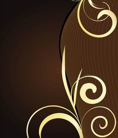 Dark brown background with curves and swirls. Vintage Floral Backgrounds, Free Vector Backgrounds, Abstract Backgrounds, Vector Free, Brown Image, Mandala, New Year Images, Glitter Wallpaper, Images Google