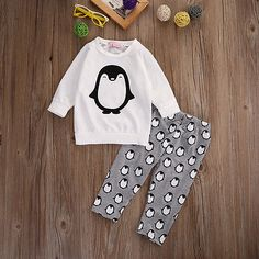 Toddler Kids Baby Boys Girls Clothes T-shirt Sweatshirt Pants Outfits 2PCS Set #Affiliate