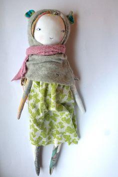 RESERVED LISTING for Svea handmade rag doll cloth por humbletoys