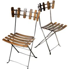 Pair of French Folding Chairs | From a unique collection of antique and modern chairs at http://www.1stdibs.com/furniture/seating/chairs/