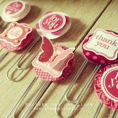 Decorative paper clips by Mariska van der Linde #papercrafts