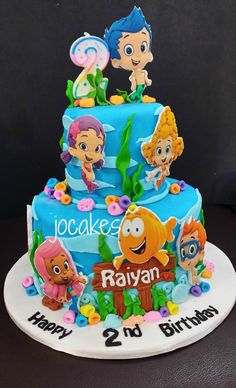 Bubble Guppies Birthday Cake with regard to Trending - Birthday Ideas Make it Bubble Guppies Birthday Cake, Bubble Birthday Parties, Bubble Guppies Party, 1st Birthday Cakes, Happy 2nd Birthday, Frozen Birthday Party, Bubble Cake, Birthday Ideas, Birthday Board