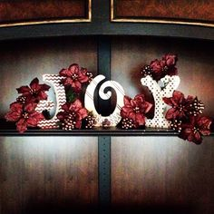 Christmas lettering decor by Shea Cook