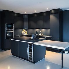 "911 Likes, 8 Comments - @blackwhite_design on Instagram: ""Wow love this black kitchen  Credit: @olivia_angeline_f #inspiration #love #designer #interior…"""