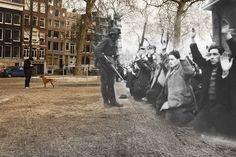 """Ghosts of Amsterdam"" - now/then -- Jonas Daniel Meijerplein"
