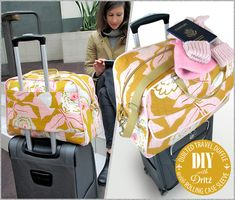 "Sac cabine ""Travel Duffle"" - Laine-et-Chiffons Duffle Bag Patterns, Bag Patterns To Sew, Sewing Patterns Free, Pattern Sewing, Dress Patterns, Free Sewing, Maxi Dress Tutorials, Diy Sac, Fleece Hats"