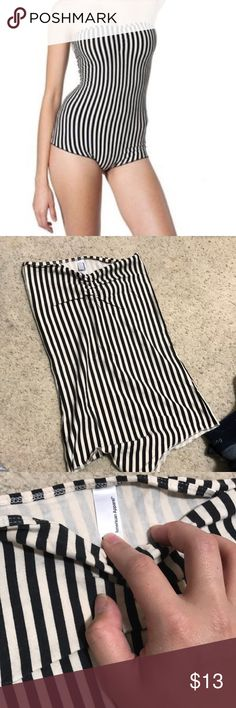 🎉HP❗️American apparel stripe bodysuit American apparel stripe bodysuit, size M, great condition, cute for summer with high waisted shorts or during winter with a blazer. True to size Tops