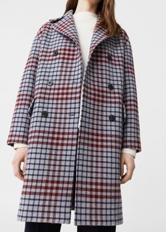 Cappotto lana quadri   MANGO
