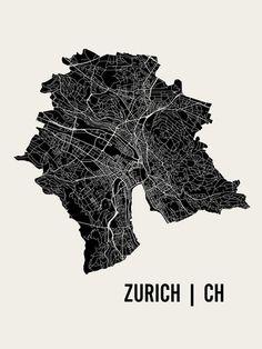 Zürich Lámina por Mr City Printing en AllPosters.com.ar.
