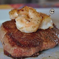"""""""Happy Surf N Turf Sunday SizzleFish fans! Tonight we are serving up a delicious dish from @5280meat  They seared a piece of their grass fed sirloin steak in @omgheebutter and topped it with some of our jumbo @sizzlefishfit Shrimp seasoned with @flavorgod garlic seasoning. Simple and delicious!  --------------------------------------- ‼️ You can purchase these delicious shrimp on the website now! Www.sizzlefish.com‼️ --------------------------------------- @sizzlefishfit"""