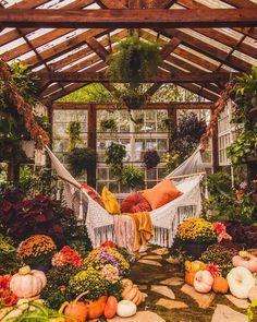 Cozy greenhouse « amazing On Dream Home Design, My Dream Home, Dream Garden, Home And Garden, Backyard Greenhouse, Greenhouse Plans, Outdoor Living, Outdoor Decor, Aesthetic Rooms