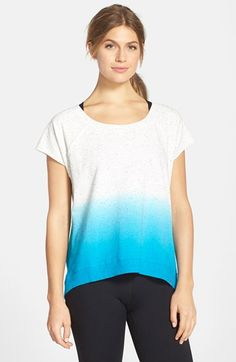 MARC+NEW+YORK+by+Andrew+Marc+Dip+Dye+Short+Sleeve+High/Low+Pullover+available+at+#Nordstrom