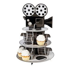 Movie Reel Cupcake Holder - OrientalTrading.com 17 inches tall  made of foam
