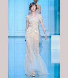 Classic knee-length beaded wedding reception dress