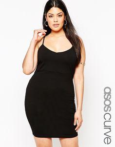 Image 1 ofASOS CURVE Mini Cami Bodycon Dress