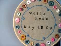 Lots of great button projects on this site, but this birth announcement is totally cute!