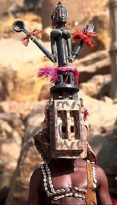 The Dogon are known for their astonishing masks and woodcarvings. They have over 80 varieties of mask they wear depending on the celebration.