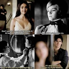 This is what I like about Damon. Not his shirtless antics (Though it doesn't hurt to see him shirtless).