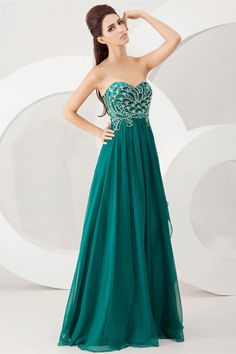 2014 Sweetheart A Line Prom Dress Embellished Bodice With Beautiful Beading Style