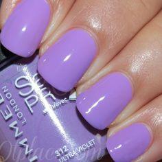 Rimmel London salon pro nail polish swatches312 ultra violet